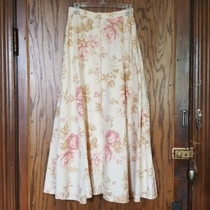 Ralph Lauren linen floral button-up maxi skirt